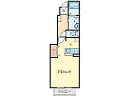 三重県亀山市住山町の賃貸アパートの間取り