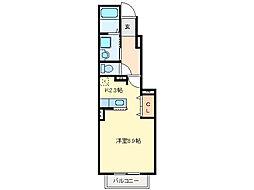 ロイヤルステージ・アイE[1階]の間取り