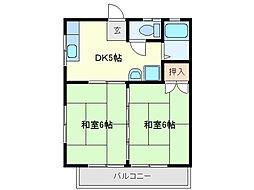 三重県鈴鹿市十宮3丁目の賃貸アパートの間取り