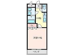 三重県亀山市田村町の賃貸アパートの間取り