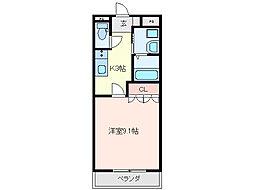 三重県亀山市関町富士ハイツの賃貸アパートの間取り