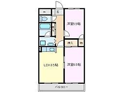 KDSマンション[3階]の間取り