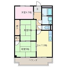 アバンハウスI A棟[3階]の間取り