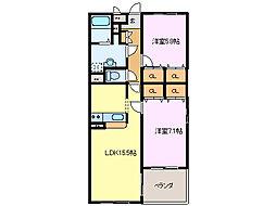 カモミーユ[2階]の間取り