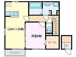 三重県鈴鹿市十宮2丁目の賃貸アパートの間取り