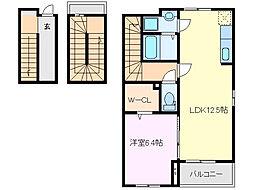 コートハウス安塚[305号室]の間取り