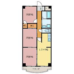 クレセント桜島[3階]の間取り