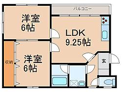 薗村マンション[2階]の間取り