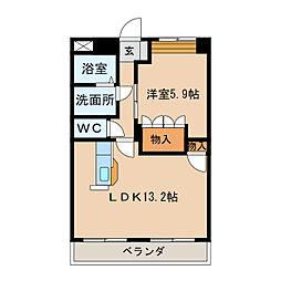 コンフォース21[3階]の間取り