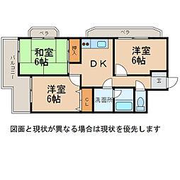メゾンKITSUNEJIMA[3階]の間取り