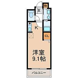 和歌山県和歌山市野崎の賃貸アパートの間取り