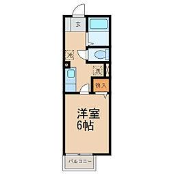 和歌山県和歌山市宇須1丁目の賃貸アパートの間取り