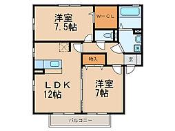 リビングタウンなごみ C棟[2階]の間取り