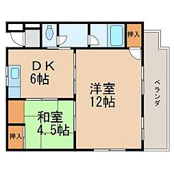 クボタPー1[3階]の間取り