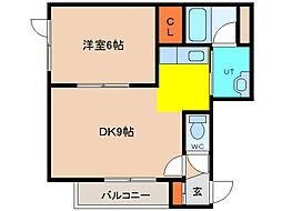 北海道函館市深堀町の賃貸アパートの間取り
