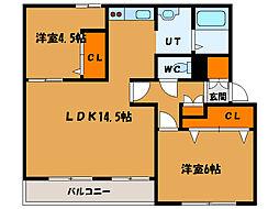 北海道函館市本町の賃貸マンションの間取り