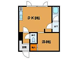 北海道函館市富岡町3丁目の賃貸アパートの間取り