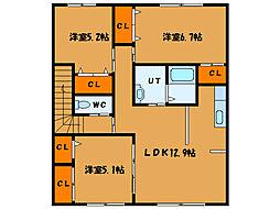 北海道函館市神山町の賃貸アパートの間取り