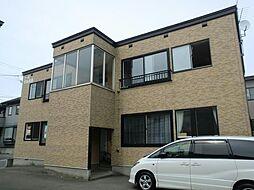 北海道函館市東山3丁目の賃貸アパートの外観