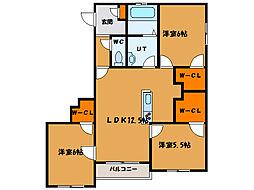 北海道函館市美原4丁目の賃貸マンションの間取り
