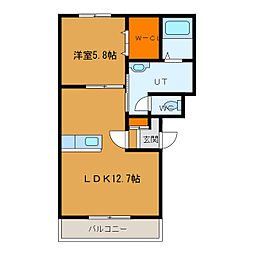 北海道函館市美原3丁目の賃貸マンションの間取り