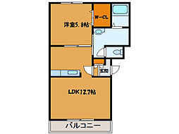 北海道函館市富岡町3丁目の賃貸マンションの間取り