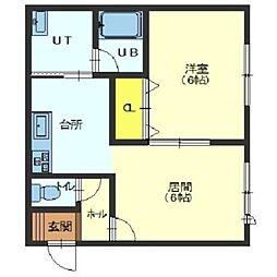 北海道函館市港町3丁目の賃貸アパートの間取り