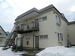 北海道函館市上湯川町の賃貸アパートの外観