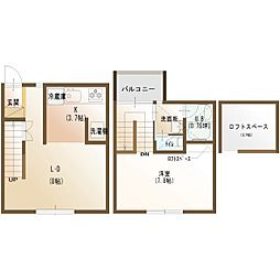 北海道函館市本通2丁目の賃貸アパートの間取り
