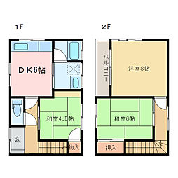 [一戸建] 愛媛県新居浜市松原町 の賃貸【/】の間取り