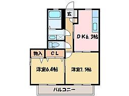 メゾン・ルベンテ[1階]の間取り