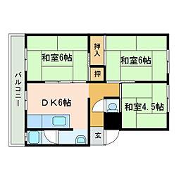 グロリーマンション[2階]の間取り
