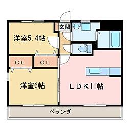 サンパティーク・1[3階]の間取り