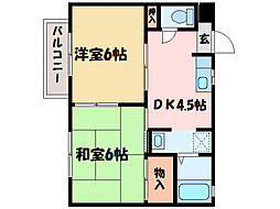 フローラル久保田[1階]の間取り