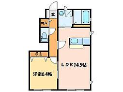 タウン表参道[1階]の間取り