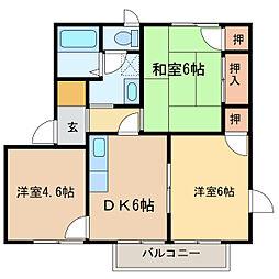 フローラルハイム[1階]の間取り