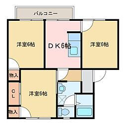 メゾントレビII[2階]の間取り