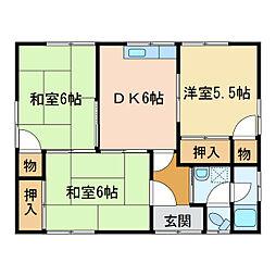 [一戸建] 愛媛県新居浜市土橋2丁目 の賃貸【/】の間取り