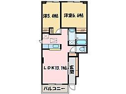 ラ サリータ[1階]の間取り