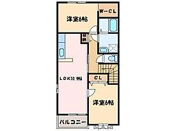 サニーミニヨンハウスII[2階]の間取り
