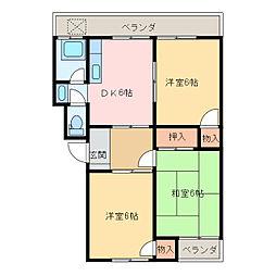 まつきマンション[307号室]の間取り
