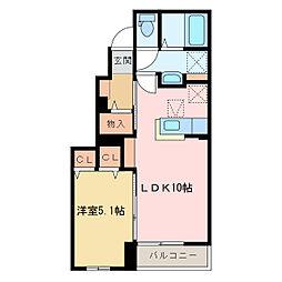 国領1丁目アパート C[C102号室]の間取り