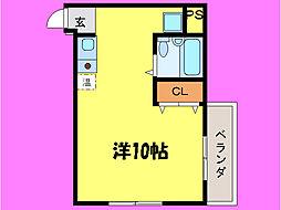 滋賀県大津市別保3丁目の賃貸マンションの間取り