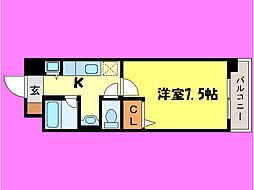 滋賀県大津市一里山5丁目の賃貸マンションの間取り