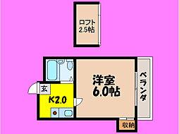 滋賀県大津市杉浦町の賃貸アパートの間取り