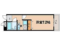 滋賀県大津市石山寺4丁目の賃貸マンションの間取り