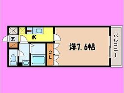 滋賀県大津市一里山6丁目の賃貸アパートの間取り