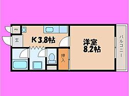滋賀県大津市月輪3丁目の賃貸マンションの間取り