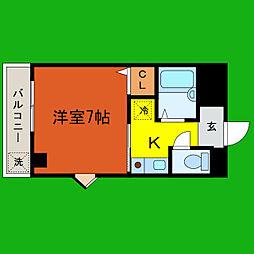 滋賀県大津市月輪1丁目の賃貸マンションの間取り