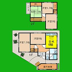 [一戸建] 滋賀県大津市一里山2丁目 の賃貸【/】の間取り